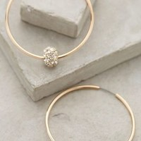 Jeweled Orbit Hoops by Anthropologie in Gold Size: One Size Earrings