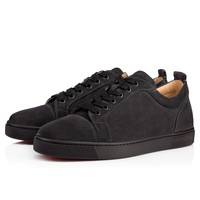 Best Online Sale Christian Louboutin Cl Louis Junior Men's Flat Charbon Suede 13s Shoes 3170052i132