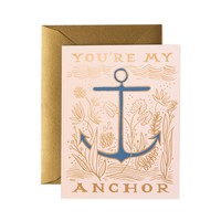 My Anchor Greeting Card by RIFLE PAPER Co. | Made in USA