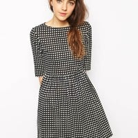 People Tree | People Tree Organic Cotton Smock Dress In Check Print at ASOS
