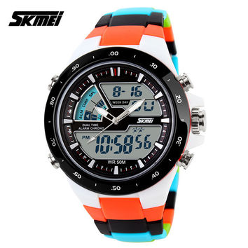 Cheap Digital Watches Online Skmei Authentic Dual Display Waterproof Personality Fashion Sport Watches Invict Corrente De Prata Masculina