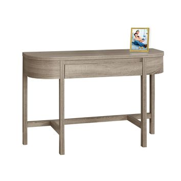 "Accent Table - 48""L, Dark Taupe With A Storage Drawer"