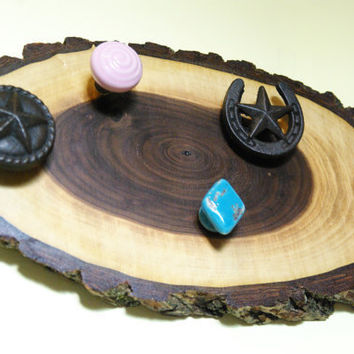Black Walnut Jewelry Display, Jewelry Hanger, Country Chic, Rustic Jewelry Holder, Tree Wood Decor, Southwestern, Cowgirl