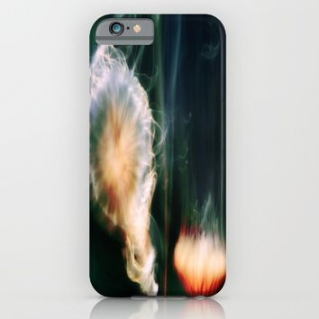 Jellyfish of the Blue-Green Electric Glow iPhone & iPod Case by Distortion Art