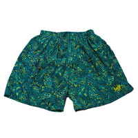 Vintage 90s Teal/Yellow Pineapple Swim Trunks Mens Size Small
