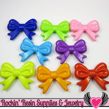 46mm LARGE BOW BEADS Multi Color Mix (4 pieces)