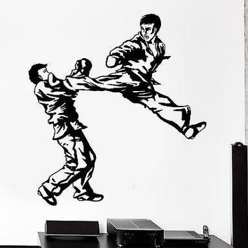 Wall Sticker Sport Taekwondo Karate Martial Arts Fighters Vinyl Decal Unique Gift (z3022)