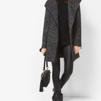 Wool-Blend Tweed Coat | Michael Kors