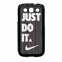 Nike Just Do It Wood Colored Darkwood Wooden Samsung Galaxy S3 Case