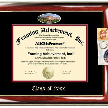 AllGiftFrames Chico State University Custom Diploma Frame Embossed Best California State University Chico Graduation Degree Frame Double Mat Campus Fisheye Picture Frame Cheap Degree Graduate Gift