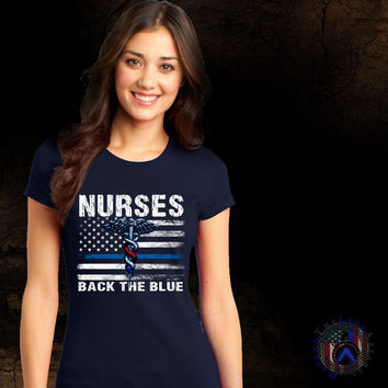 Nurses Back The Blue Front Only