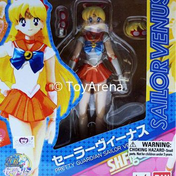 S.H. Figuarts Sailor Venus Sailor Moon Action Figure Bandai IN STOCK USA Seller