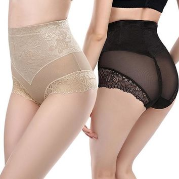 Sexy Lace Jacquard High Waist Lingerie Slimming Underwear Fitness Shapewear