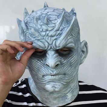 ICIKH6B Cosplay Game of Thrones Night's King Walker Face NIGHT RE Zombie Halloween Mask For Adults Throne Costume Party Accessory