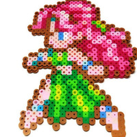 Video game perler bead art, Secret of Mana NPC sprite, geeky gift, obscure video game chararacters