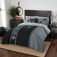 Oakland Raiders NFL Full Comforter Bed in a Bag (Soft & Cozy) (76in x 86in)