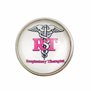 Respiratory Therapist Snap Charm 20mm