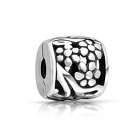 Bling Jewelry Silver Blossom Bead
