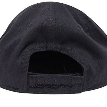 Nike Jordan Infant 12/24 Boy's Embroidered Jumpman Logo Fitted Baseball Cap (Gray/Blac