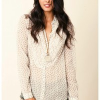 Free People - All That Glitters Button Down