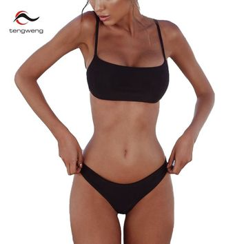 2018 Sexy Solid Seamless Bandeau Biquini Beachwear Bathing Suit Female Swimsuit Thong Swimwear Women Cheeky Brazilian Bikini Set
