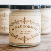 Honey Tobacco Apothecary Jar Candle