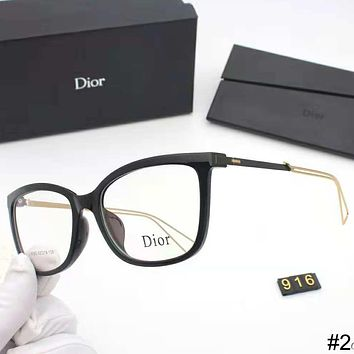DIOR trend men and women retro high-end optical frame metal flat mirror #2
