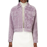 3.1 Phillip Lim Lilac Shearling Denim-style Jacket