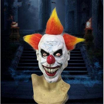 DCCKH6B Funny Halloween Party Cosplay Evil Circus Clown Mask Pennywise Halloween Horror Party Funny Clown Fancy Dress Costume Accesso
