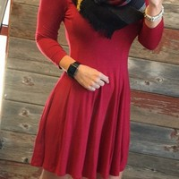We Both Know Tunic Dress: Red