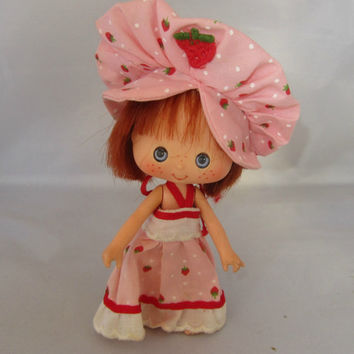 Vintage Strawberry Shortcake Doll by American Greetings 1984