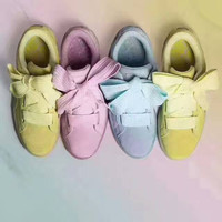 PUMA Women Casual Running Sport Shoes Sneakers bowknot Candy Color