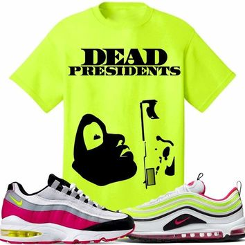 Air Max White Rush Pink Volt Sneaker Tees Shirt to Match - PRESIDENT