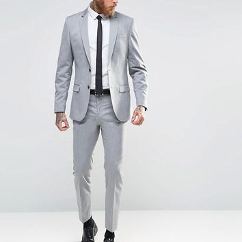 River Island Gray Suit In Slim Fit at asos.com