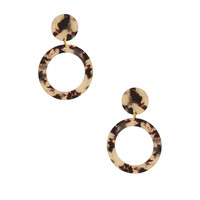Amber Sceats Bahai Earrings in White Tortoise
