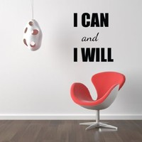 Housewares Vinyl Decal I Can and I Will Home Wall Art Decor Removable Stylish Sticker Mural Unique Design for Nursery Room