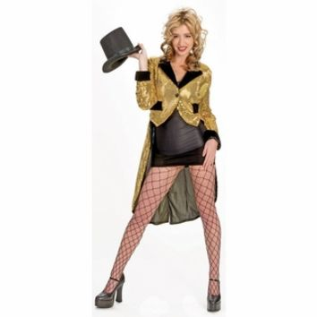 Women's Glitzie Gold Broadway Tuxedo Jacket