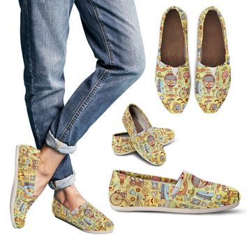 Steampunk Pattern Casual Shoes