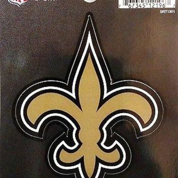 "New Orleans Saints 3"" Flat Vinyl Sport Die Cut Decal Bumper Sticker Football"