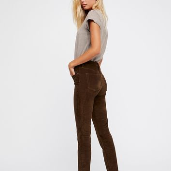 Reagan Cord Jeans - Olive by Free People