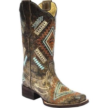 Corral Women's Diamond Embroidered Square Toe Boots