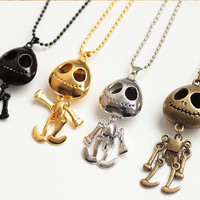 Women's Bronze Necklace Big Eyes Skull Head Sweater Chain Luxurious Paragraph Fashion