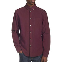 Mens Red Burton Burgundy oxford shirt