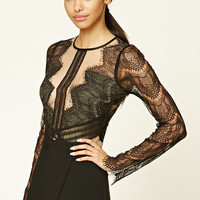 Sheer Eyelash Lace Bodysuit