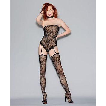 Dreamgirl Fishnet Lace Teddy Bodystocking