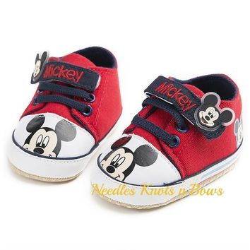 Fashion Online Baby Boys Mickey Mouse Shoes Boys Crib Shoes Mickey Mouse Birthday Shoes First Walkers