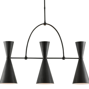 Currey Company Gino Rectangular Chandelier