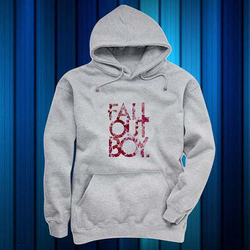fall out boy Hoodies Hoodie Sweatshirt Sweater gray and beauty variant color for Unisex size