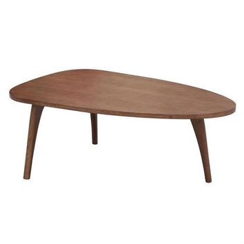 Mid-Century Modern Living Room Triangular Wood Coffee Table