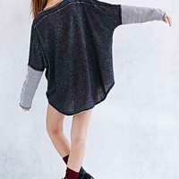 Ecote Tunic Sweatshirt- Grey Multi
